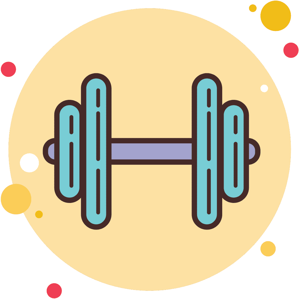 Animated dumbbell icon