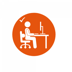 Animated Icon showing an example of good posture