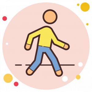 Animated Icon Showing a person walking to better their health