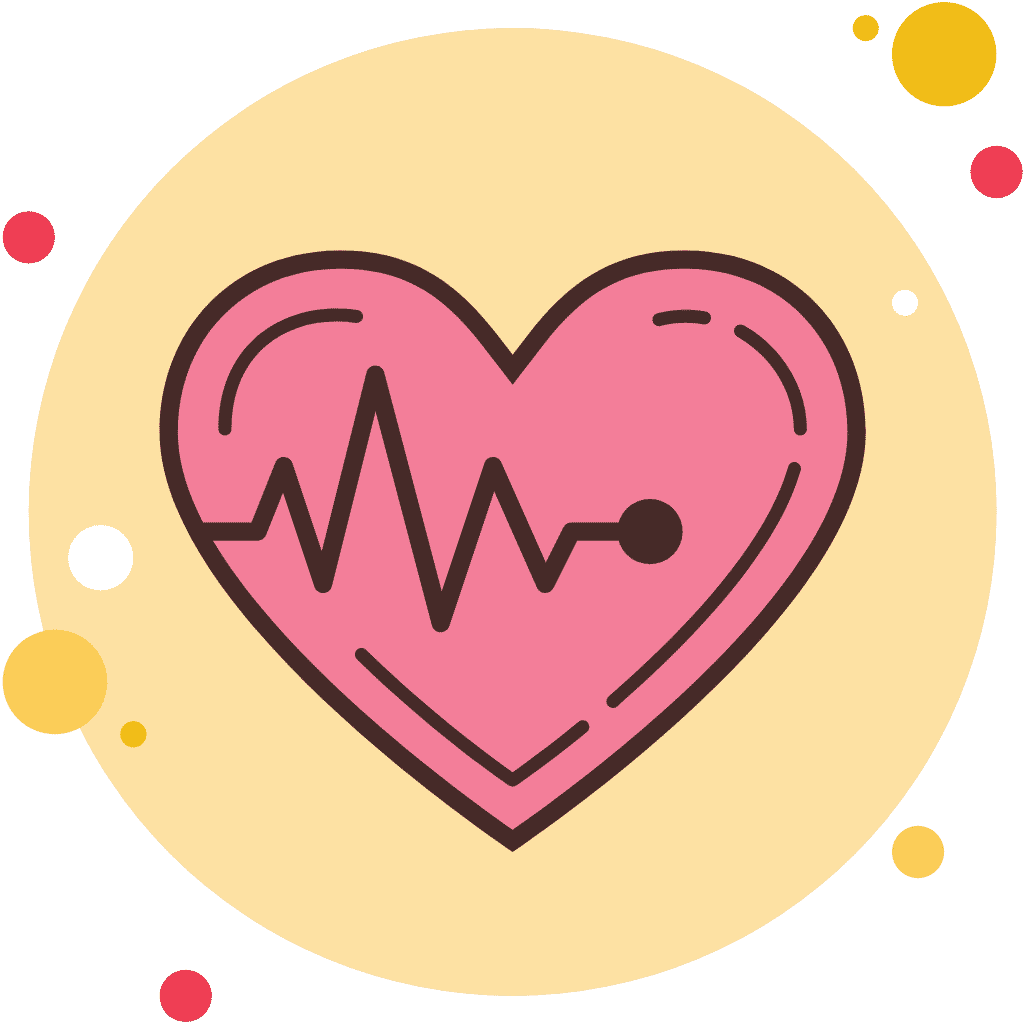 Animated heart to represent cardiovascular health