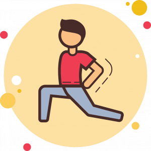 Animated Icon of a person stretching to improve their mobility